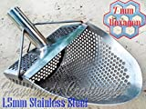 Sand Scoop for metal detecting HEXAGON 7 Beach Metal Detector Hunting Tool Stainless Steel COOB