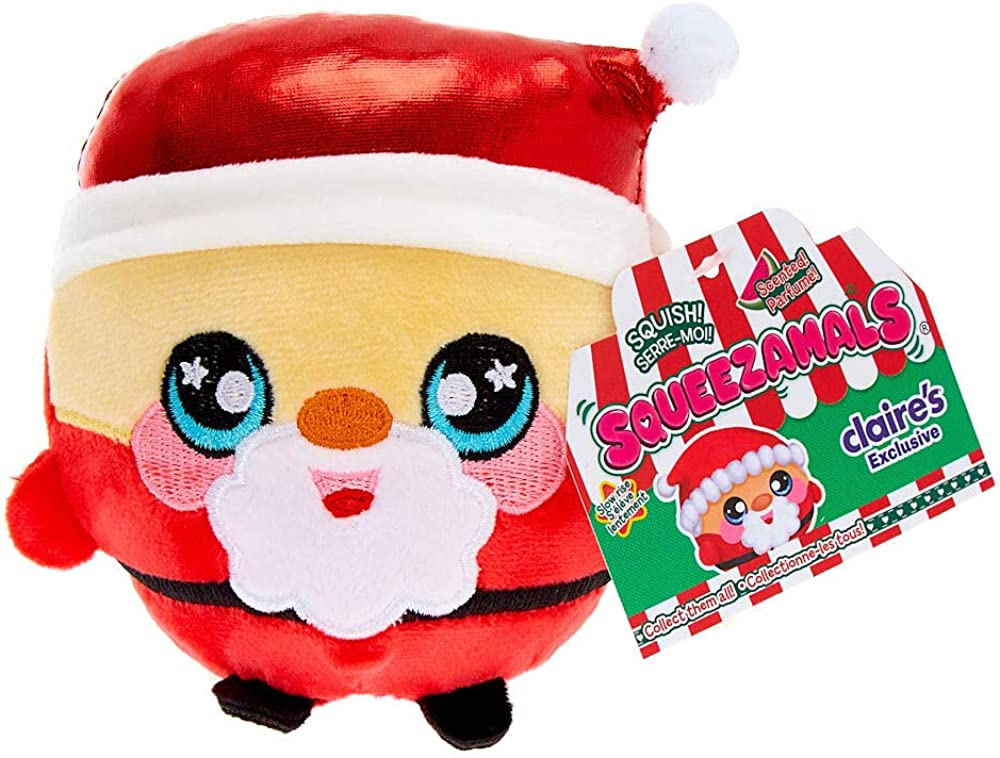CLAIRE/'S EXCLUSIVE Reindeer Round Squeezamals Squishy Christmas Holiday Plush