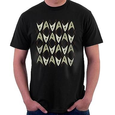 Star Trek Knit Pattern Mens T Shirt Amazon Clothing
