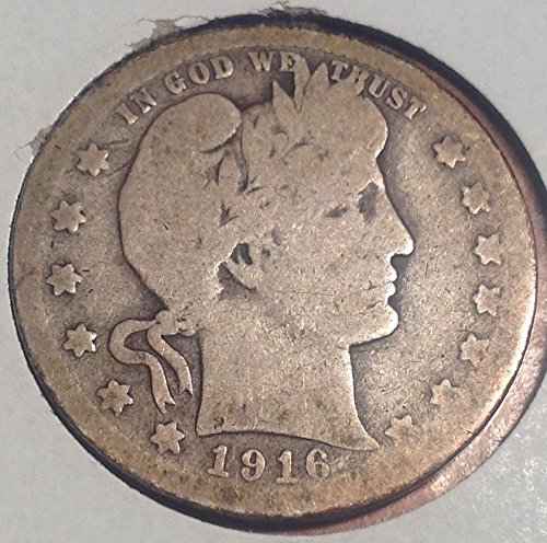 1916 D Barber Quarter Good