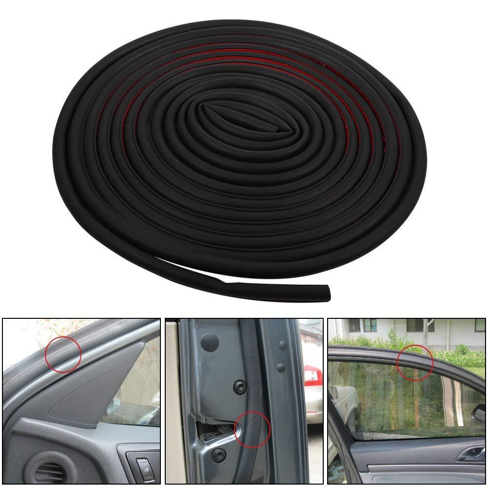 4 m color negro RONSHIN forma de P Tira de goma universal para puerta de coche