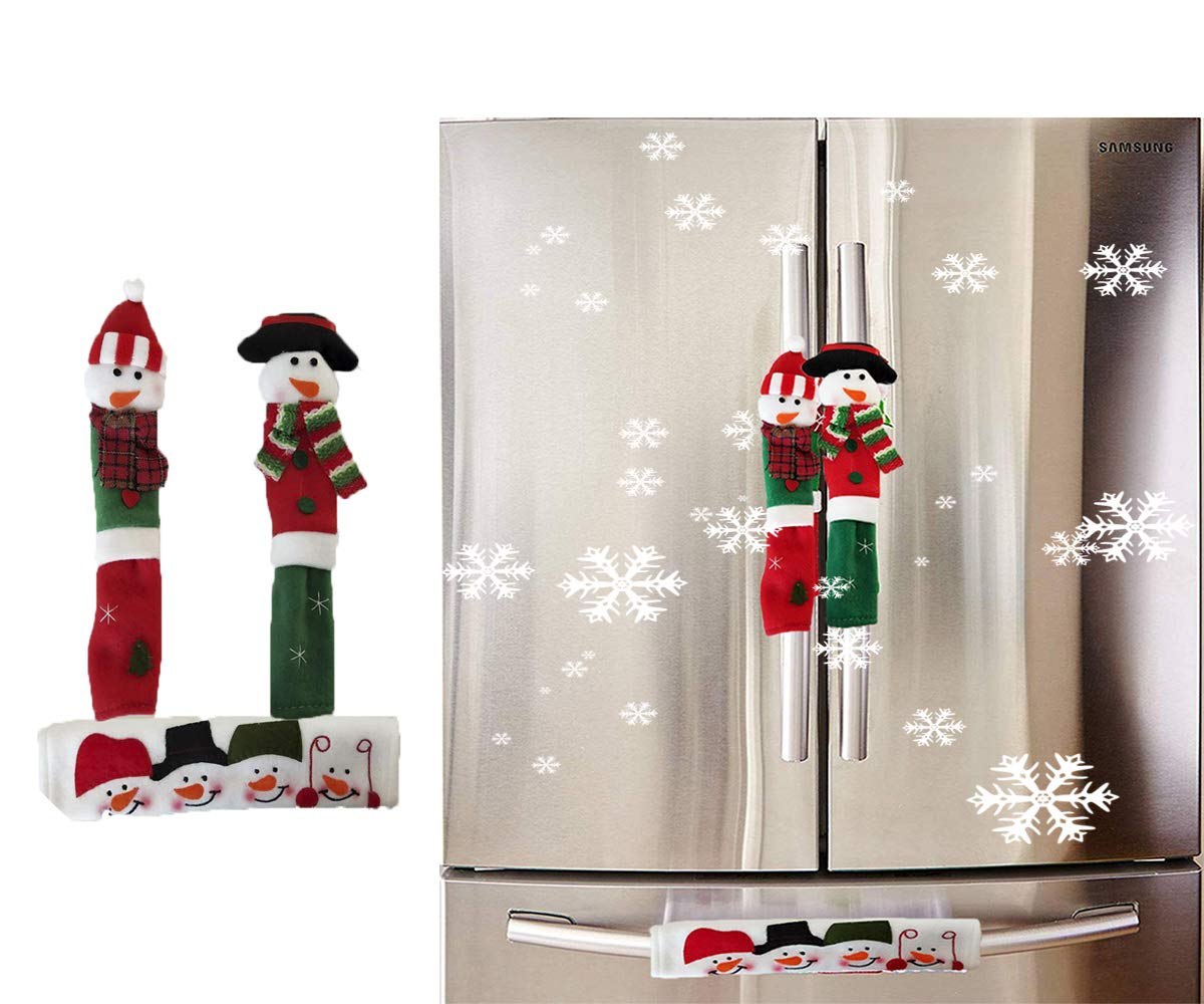 Amazon.com: Refrigerator Door Handle Covers Christmas Decorations ...