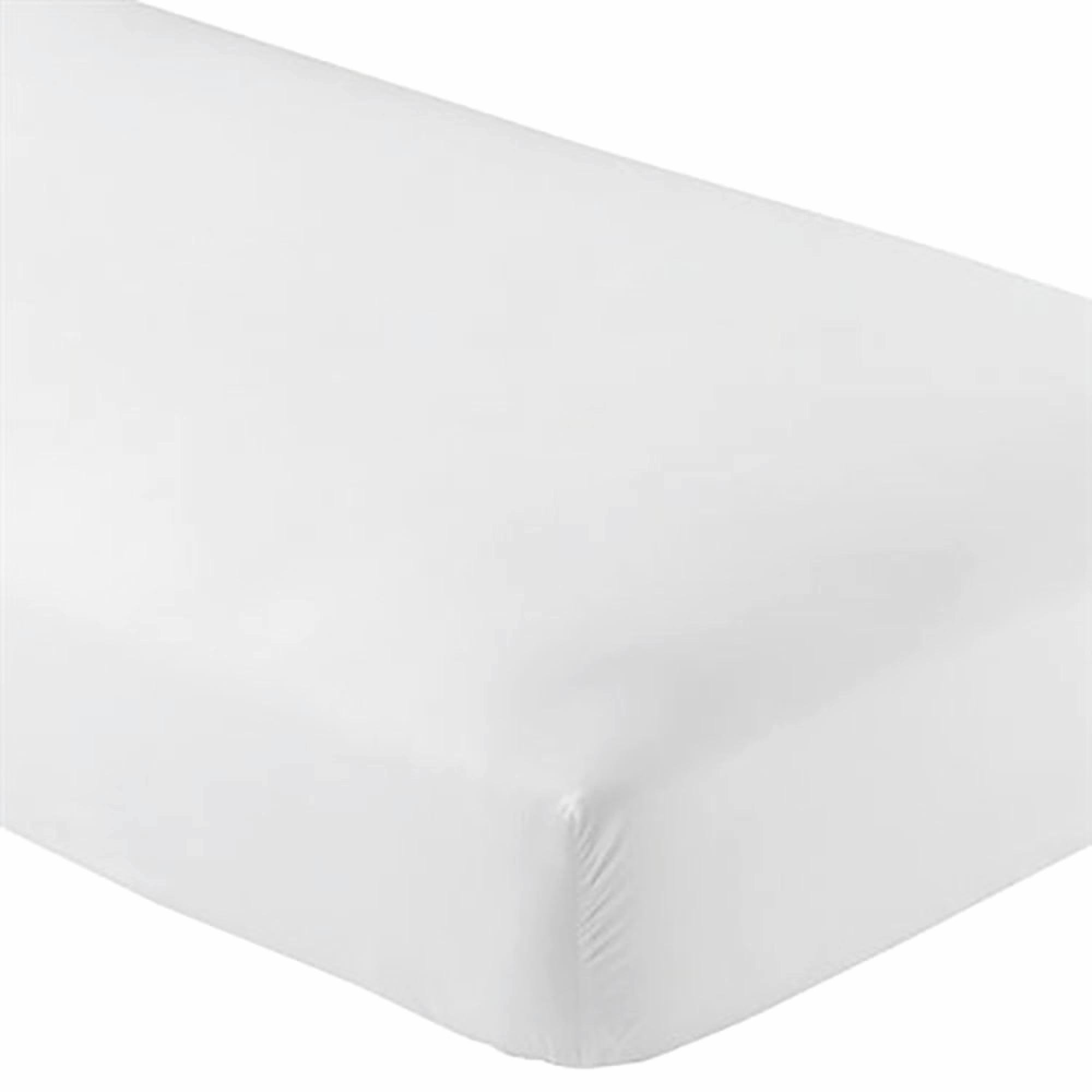 Knit Jersey 100% Cotton 2 Twin XL Fitted Bed Sheets (2-Pack) Soft and Comfy - Twin Extra Long, 15'' Deep Pocket, 39'' x 80'' Great for Dorm Room, Hospital and Split King Dual Adjustable Beds (White) by Crescent Bedding