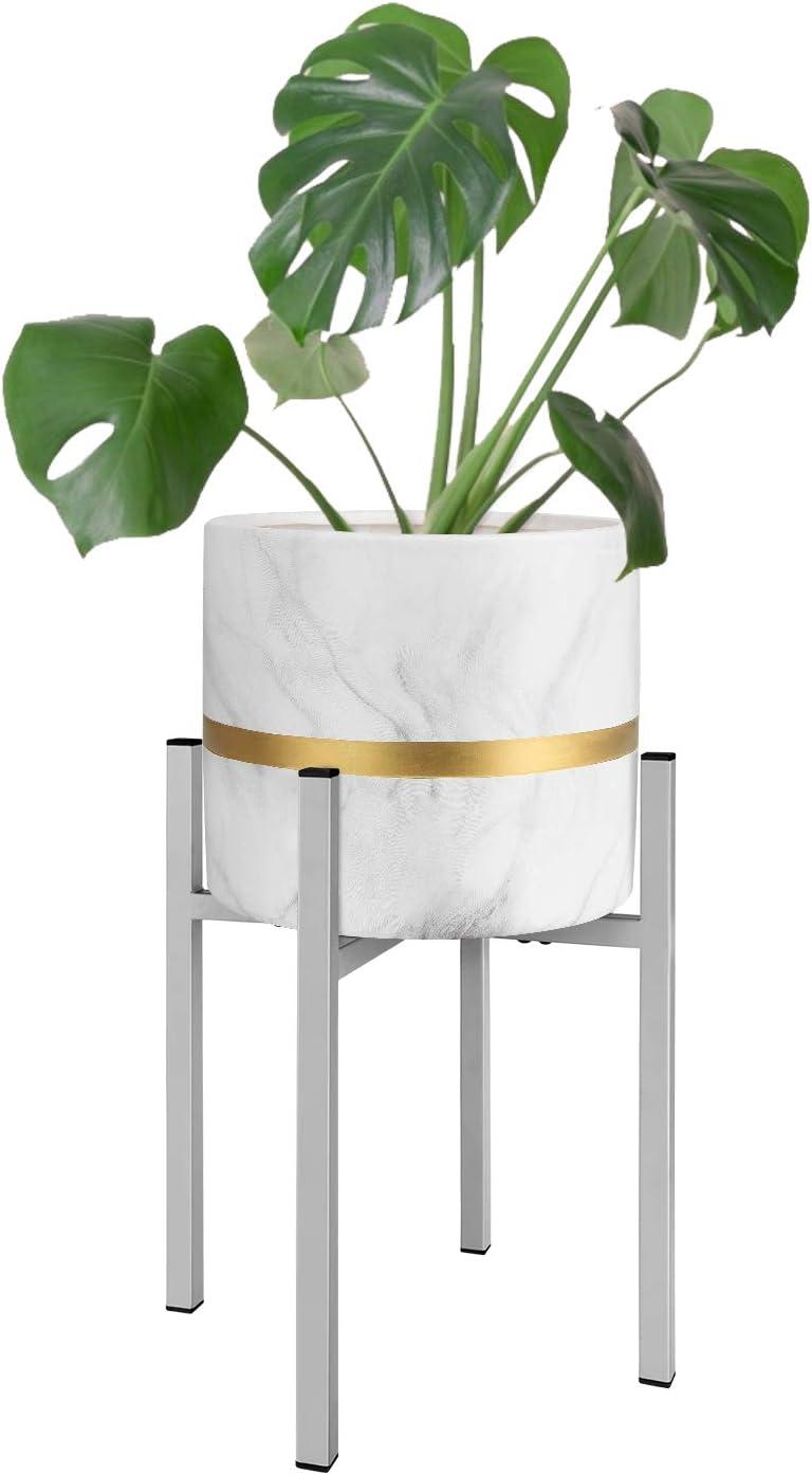 Magicfly Soporte de Plantas Expandible, Soporte de Macetero de Metal Ajustable 25,4-36,8 cm de Ancho, Soporte de Macetas para Interior Decorativo, Gris