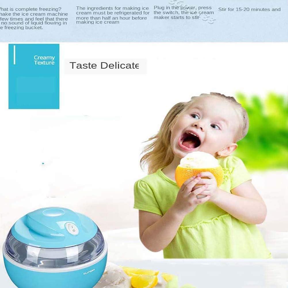 WZLJW 0.6L- automática Fabricante de Helados, Yogurt Sorbete de Pantalla Plana, máquina for Hacer Helados en 15 Minutos Niños DIY Hecho en casa ggsm (Color : Green) Blue