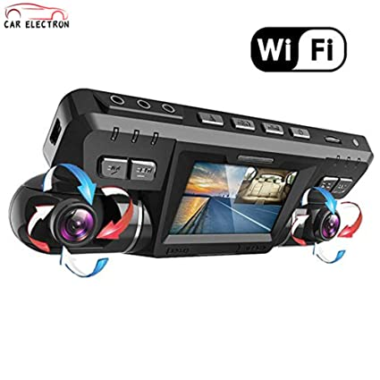 Amazon com : CAR ELECTRON Dash Cam with WiFi/Dual 1920x1080P Front