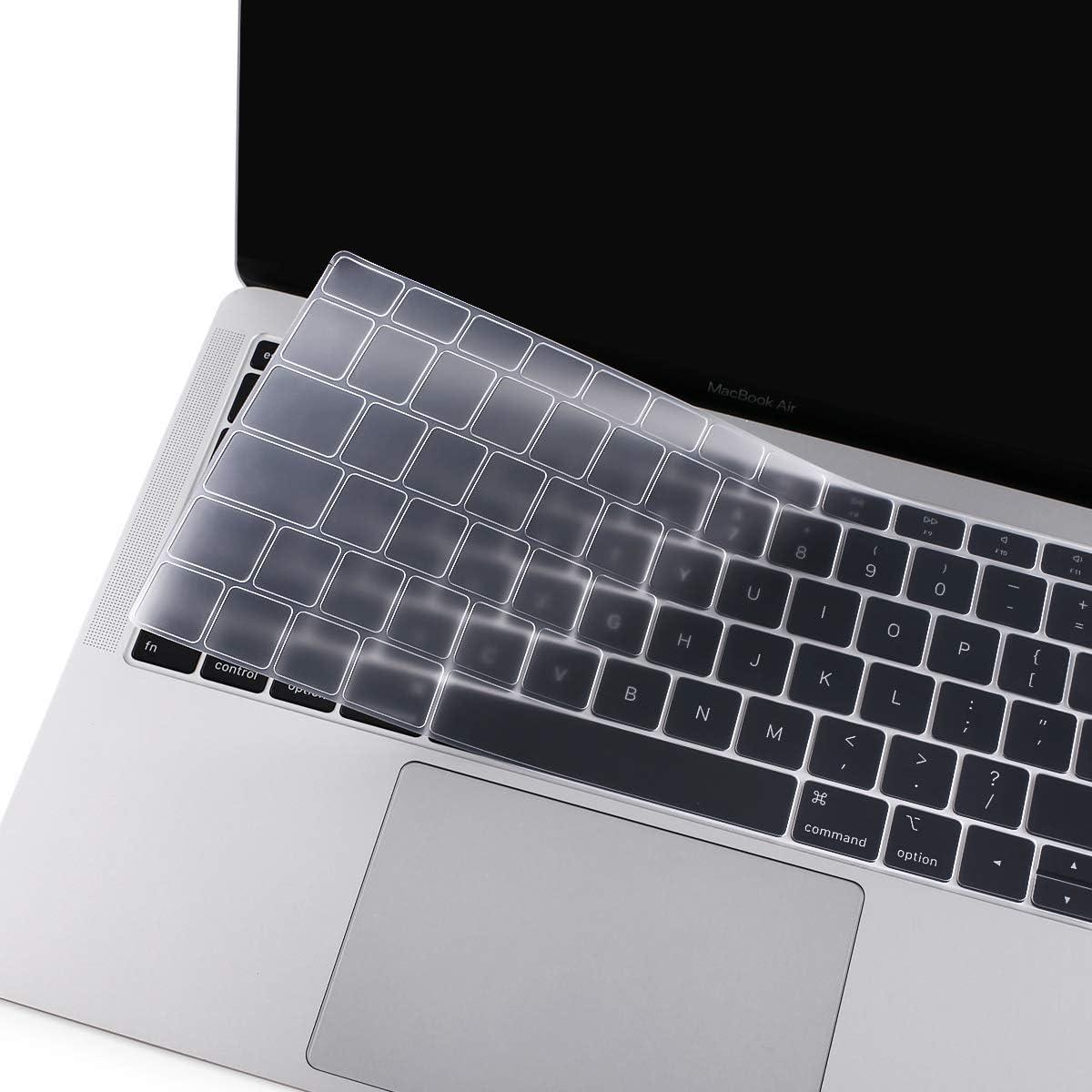 MOSISO Cubierta del Teclado Compatible con 2019 2018 MacBook Air 13 A1932 Retina, Piel de Silicona Protectora Impermeable a Prueba de Polvo