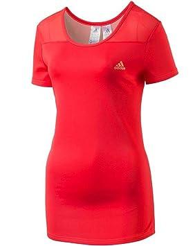 Adidas kinesics PES Camiseta para Mujer Fitness Camiseta Camiseta Red ap2090, Color Rosa, tamaño Small: Amazon.es: Deportes y aire libre