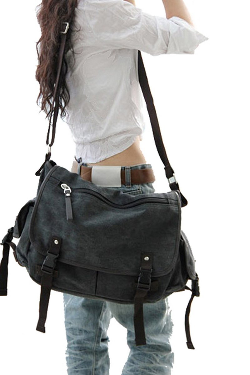 Digital baby Big Vintage Canvas Messenger Bag Book Laptop Shoulder School Ladys Women Men New on sale