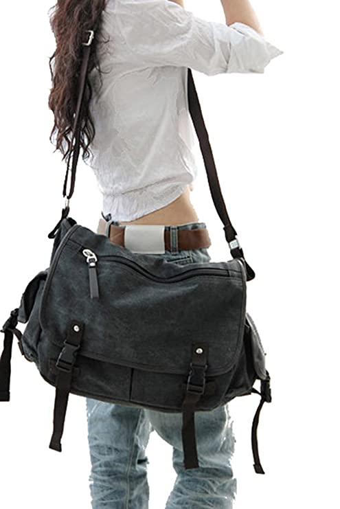 Amazon.com  Digital baby Big Vintage Canvas Messenger Bag Book Laptop  Shoulder School Ladys Women Men New  Computers   Accessories e98bcc5ad2894