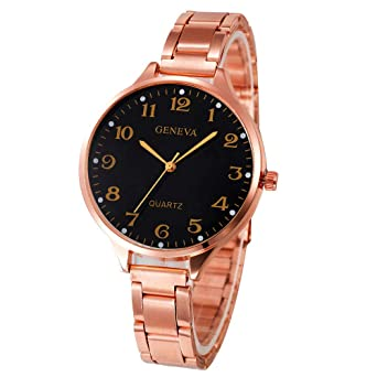 Luxury Watches for Women DYTA Ladies Bracelet Wrist Watches with Stainless Steel Strap Under 10 on Clearance Easy Reader Business Analog Quartz Watches ...