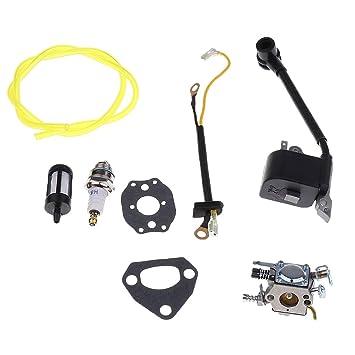 Amazon.com : Jili Online Trimmers Chainsaw Parts Carburetor ...