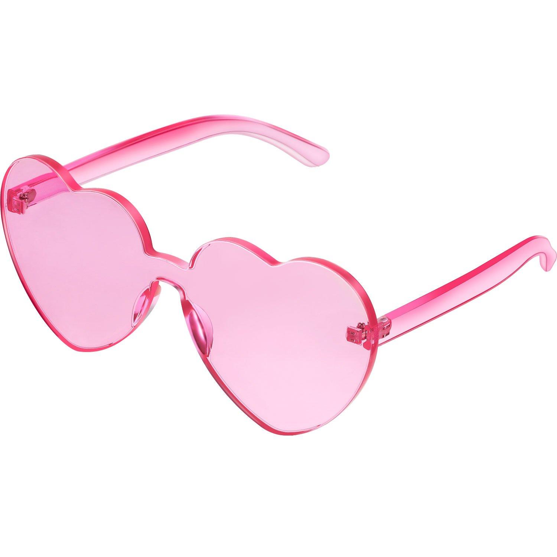 2c2ea685dc Amazon.com  Maxdot Heart Shape Sunglasses Party Sunglasses ...