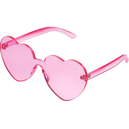 1d9174a4e94 Amazon.com  Maxdot Heart Shape Sunglasses Party Sunglasses ...