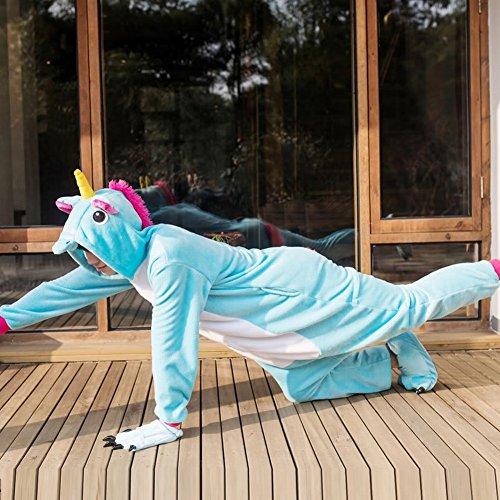 Svago Ispessimento Adult Costume Animale Peluche Usura Piece Pigiami Cwj Cosplay Unisex Blu Di Inverno One SfOq5vUw