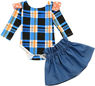 Lurryly Infant Baby Girls Sleeveless Striped Top Romper Jumpsuit Clothes 0-24 M