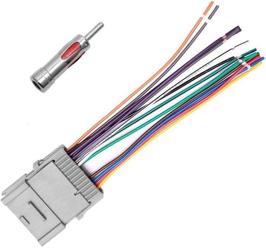 isuzu radio wiring amazon com stereo radio wiring harness antenna adapter isuzu npr radio wiring diagram amazon com stereo radio wiring harness