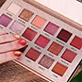 Beauty Glazed New Nude Eyeshadow Palette The 18 Colors Matte Shimmer Glitter Multi-Reflective Shades Ultra Pigmented Makeup Eye Shadow Powder Waterproof Eye Shadow Palette