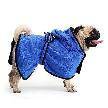 Cutepet Toallas Secado Rápido Y Hidrófugo para Perros Absorbentes Fácil De Usar Cómodo,Blue,
