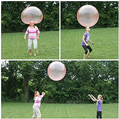 ZINUY-HH Bubble Ball For Kids Water 2 Pack Bubble Balls Toy Funny For Inflatable Bounce Children Big Inflatable Random Color XX-Large: Toys & Games