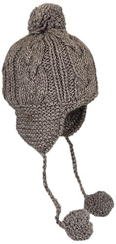 Seeberger Mujer 13478–0/12Beanie Gris Grey (flanellgrau 12) Talla única