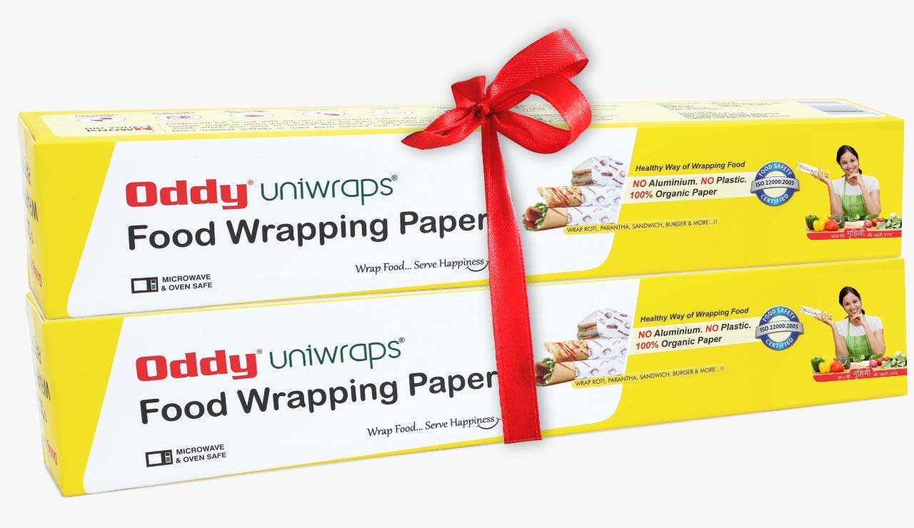 Oddy Uniwraps Food Wrapping Paper 278MM x 20M, Combo Pack, Set of 2 Rolls product image
