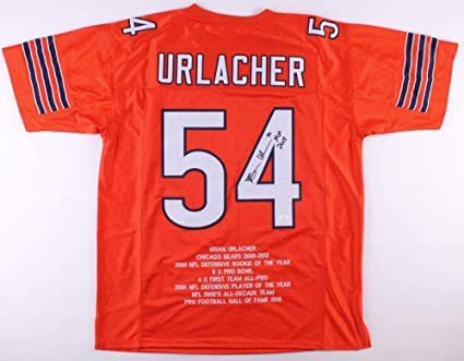 Image Unavailable. Image not available for. Color  Brian Urlacher Signed  Jersey ... eafd48a51