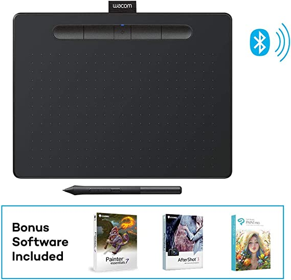 Wacom Intuos Wireless Graphics Drawing Tablet with 3 Bonus Software Included