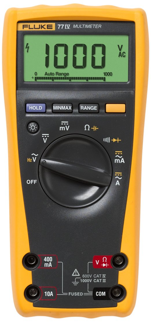 Fluke 77-IV Digital Multimeter, Yellow