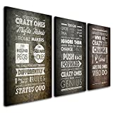 Personal Prints Steve Jobs Quote - The Crazy Ones Triptych