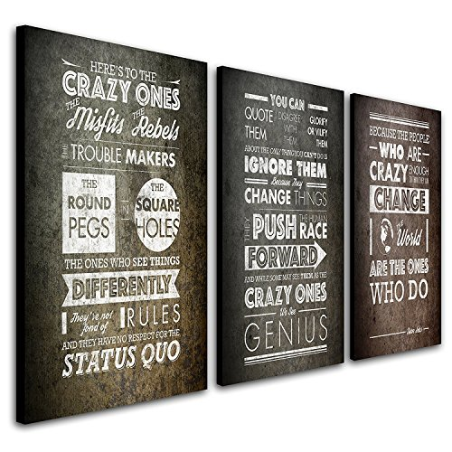 Steve Jobs Quote Crazy Triptych
