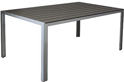 Gartentisch 150.Kynast Aluminium Gartentisch 150 X 90 Cm Anthrazit Silber