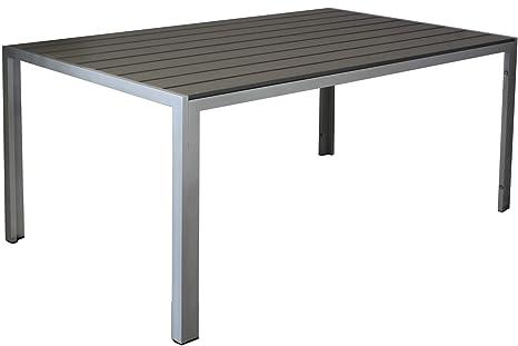 Amazonde Kynast Aluminium Gartentisch 150 X 90 Cm Anthrazit Silber