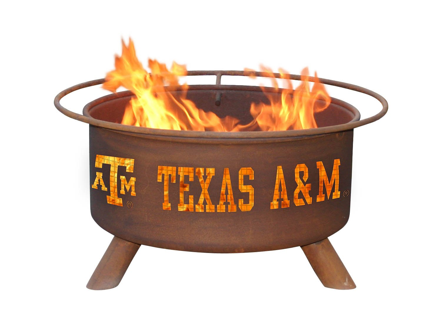 Amazon.com : Patina Products F232 Texas A and M Fire Pit : Garden ...