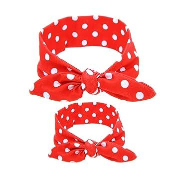 OULII Baby Mädchen Stirnbänder gedruckt Mutter und Kind passt Hase ...