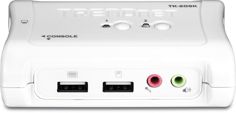 TRENDnet TK-209K Kit Switch KVM 2 Porte USB con Audio
