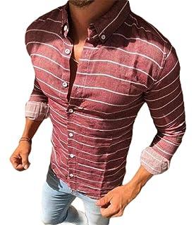 ouxiuli Mens Solid Stylish Slim Nightclub Short Sleeve Button Front Shirts