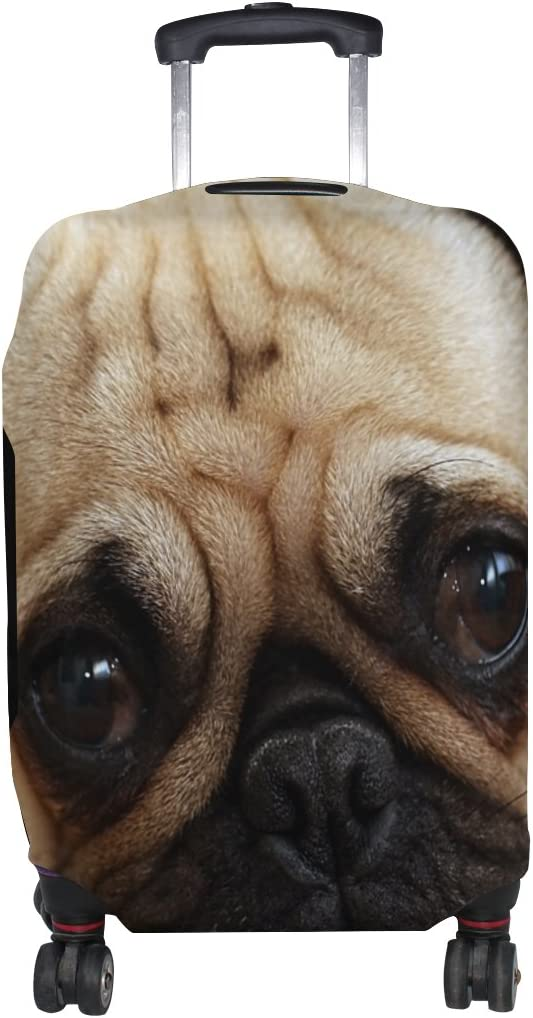 LEISISI Cute Pug Luggage Cover Elastic Protector Fits XL 29-32 inch Suitcase