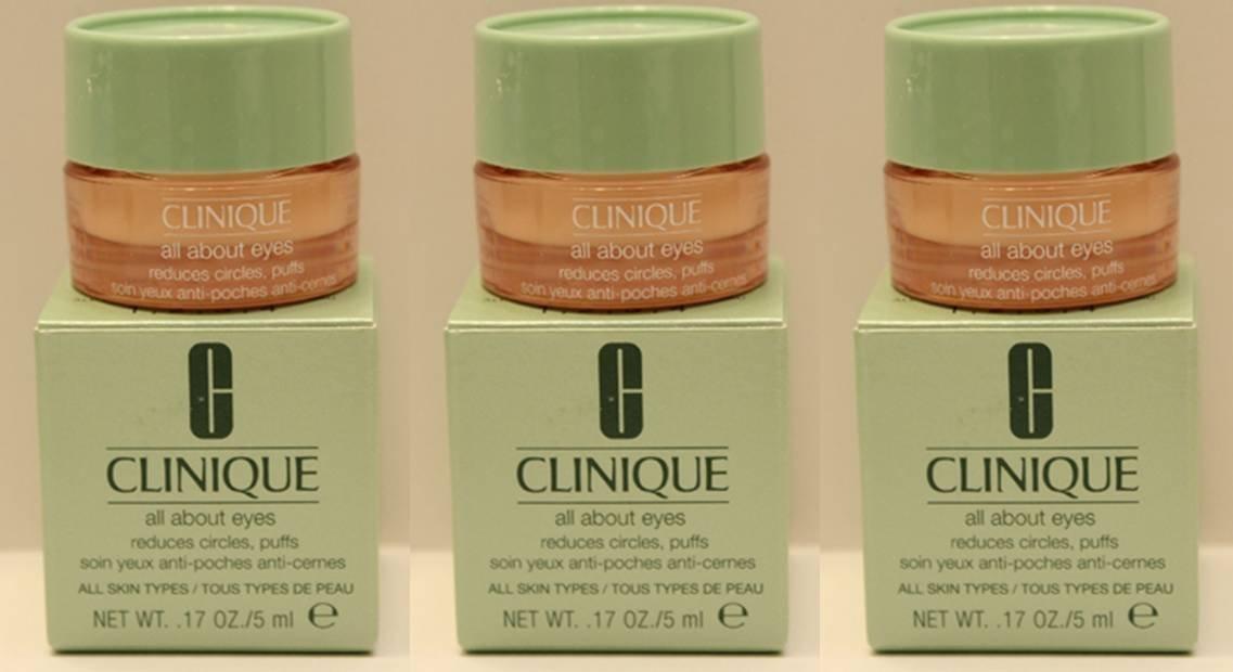 Clinique 3つのオールアバウトアイズの多くは、パフサークル5mlの/各* 3 =合計15ミリリットル/ 0.5オンスを削減します B00DNLCBLO