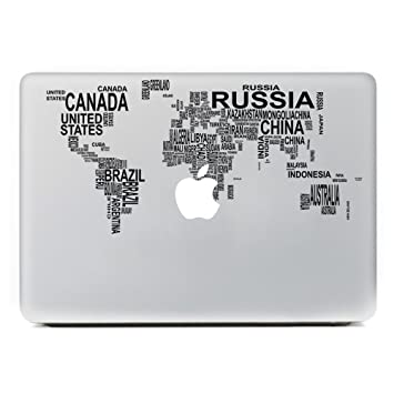 Icasso world map removable vinyl decal sticker skin for apple icasso world map removable vinyl decal sticker skin for apple macbook pro air mac 13quot gumiabroncs Images