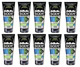 Gillette Body Non Foaming Shave Gel for Men, 5.9 Fl Oz (10 Pack) + FREE Travel Toothbrush, Color May Vary