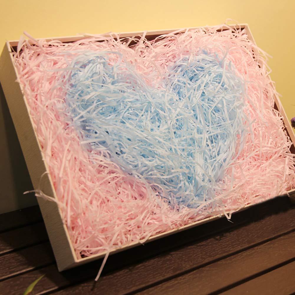 20g//bag di alta qualit/à riempita Artificial Grass rafia carta DIY asciutto paglia regali scatola di riempimento Candy Box riempitivo riempire accessori festa di nozze festa di Pasqua forniture rosa
