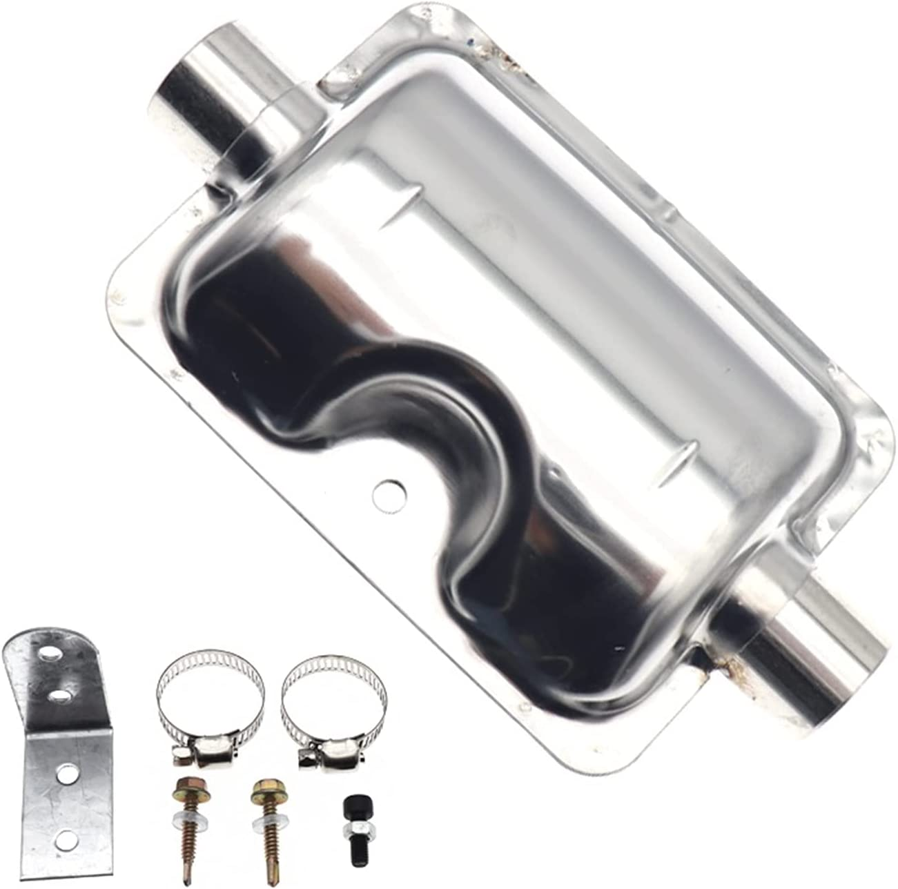 WLLOVE WULE Calentador de Aire Diesel de 24 mm Sistemas de Escape de estacionamiento Silenciador de tubería Silenciador Muffler Acero Inoxidable Fit para Webasto Eberspacher