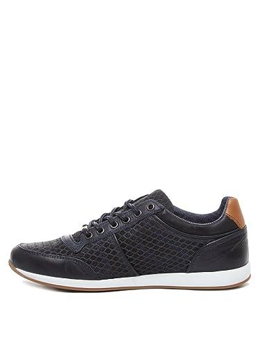 BULLBOXER Schuhe Herren SCHNÜRSCHUHE Sneaker 132 K2 3768Y Marine BLAU Blue Men
