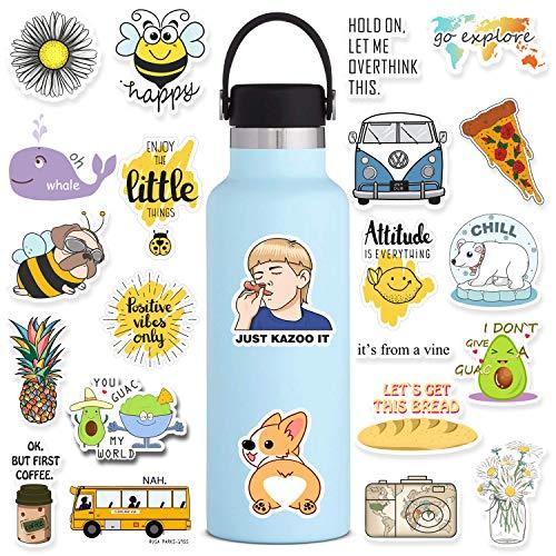 50 Pack Cute Peppa VSCO Stickers for Water Bottles Laptops, Aesthetic Trendy Waterproof Vinyl Sticker for Teens Vsco Girl Meme, Decals for Hydro Flasks Mirrors Hydroflasks Waterbottles Case Skateboard