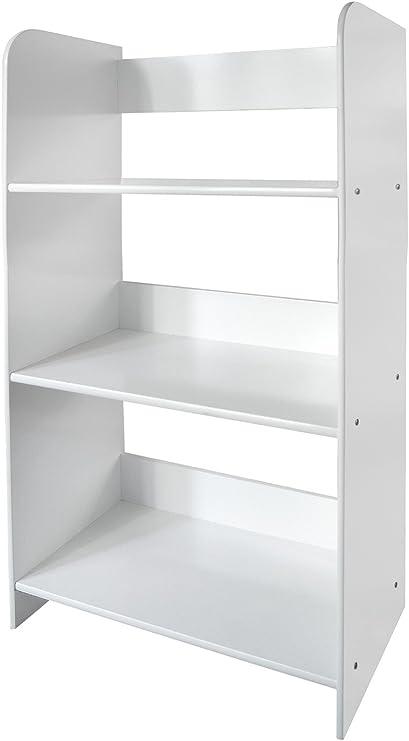 Leomark Estantería de Madera para Niños, Blanca, Tres Estantes, Altura 90cm, Librero para Dormitorio: Amazon.es: Juguetes y juegos