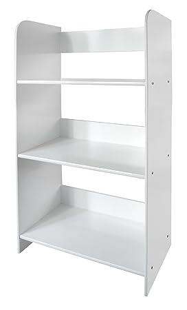 Meuble De Rangement Bibliotheque Blanc 3 Casiers 3 Escalier Niveaux