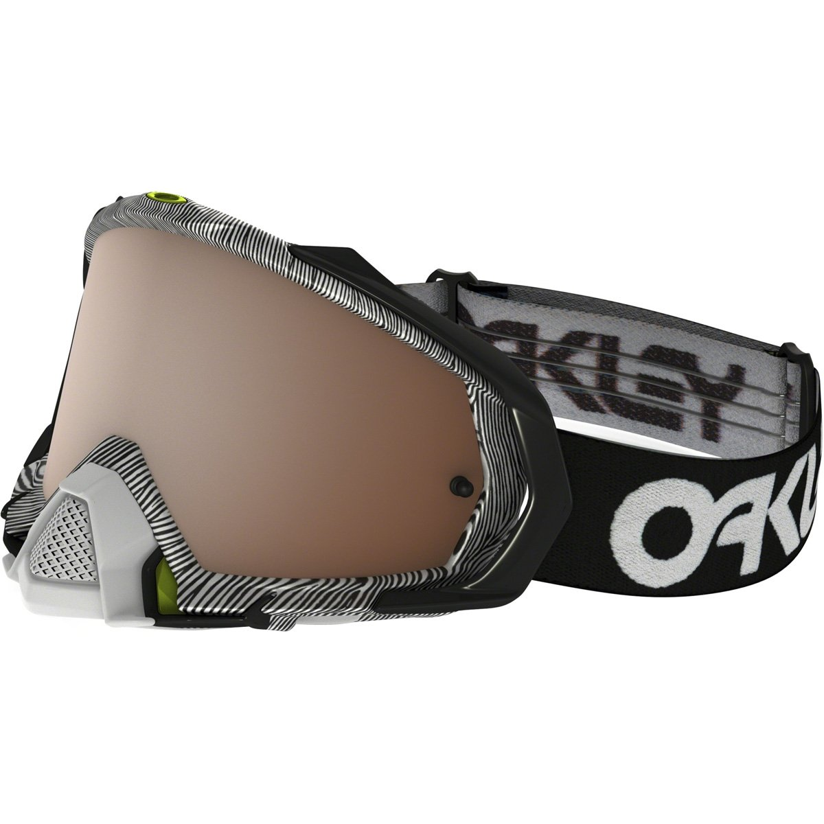 Oakley Mayhem Pro MX FP Thumbprint Men's Dirt Motocross Motorcycle Goggles Eyewear - Black White/Black Iridium/One Size Fits All
