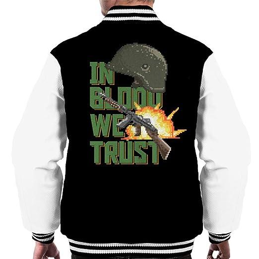 In Blood We Trust Mens Varsity Jacket: Amazon.es: Ropa y accesorios
