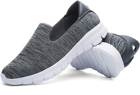 BHYDRY Zapatillas de Deporte para Mujer Moda Casual Sólido Deportivo Respirable Ligero Slip on Shoes